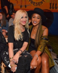 Gwen Stefani and Eve attends the Moschino Spring/Summer 19 Menswear and Women's Resort Collection at Los Angeles Equestrian Center on June 8, 2018 in Burbank, California.