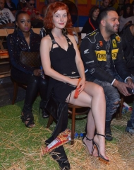 Kacy Hill attends the Moschino Spring/Summer 19 Menswear and Women's Resort Collection at Los Angeles Equestrian Center on June 8, 2018 in Burbank, California.