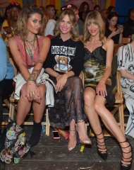 Paris Jackson; January Jones; Jaime King attends the Moschino Spring/Summer 19 Menswear and Women's Resort Collection at Los Angeles Equestrian Center on June 8, 2018 in Burbank, California.