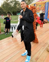 Quincy Brown attends the Moschino Spring/Summer 19 Menswear and Women's Resort Collection at Los Angeles Equestrian Center on June 8, 2018 in Burbank, California.