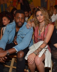 Winston Duke, Paris Jackson attends the Moschino Spring/Summer 19 Menswear and Women's Resort Collection at Los Angeles Equestrian Center on June 8, 2018 in Burbank, California.