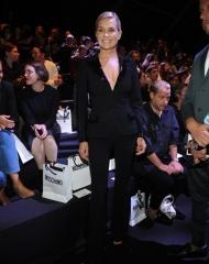 Yolanda Hadid . Moschino special guests