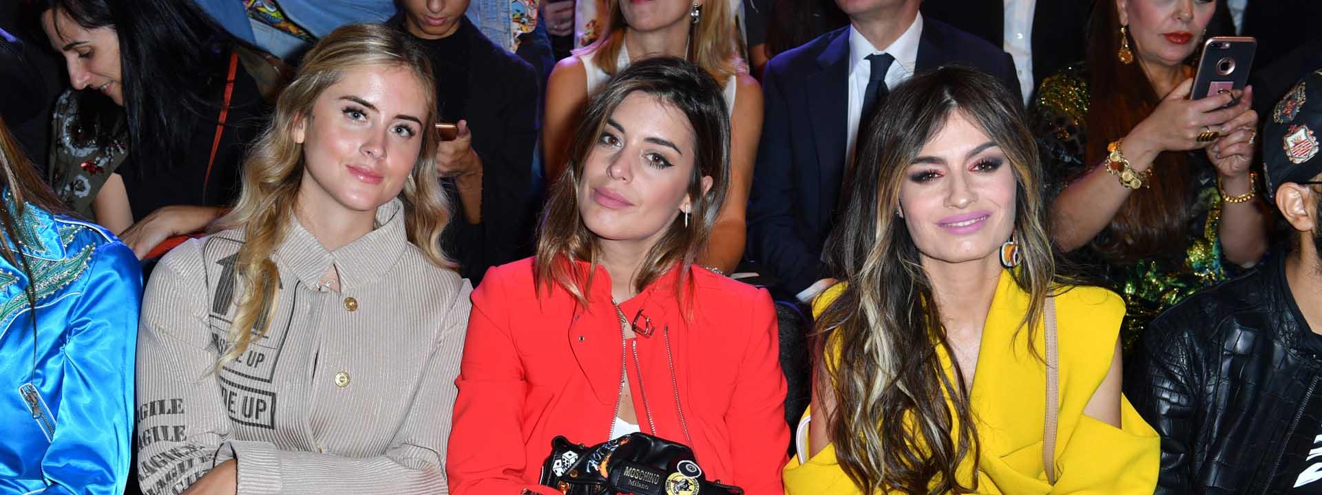 Valentina Ferragni, Aida Domenech, Angela Rozas Saiz . Moschino special guests