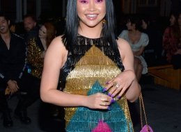 Lana Condor attends the Moschino Spring/Summer 20 Menswear and Women's Resort Collection at Universal Studios Hollywood