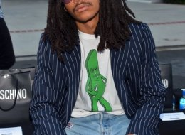 Luka Sabbat attends the Moschino Spring/Summer 20 Menswear and Women's Resort Collection at Universal Studios Hollywood on
