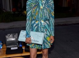 Paula Patton attends the Moschino Spring/Summer 20 Menswear and Women's Resort Collection at Universal Studios Hollywood