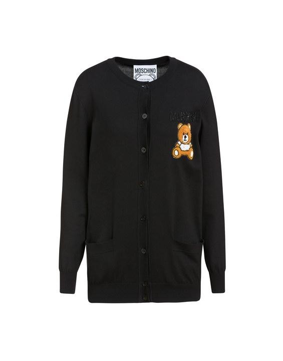 Bear Moschino clutcher Neri Nero Teddy The Girocollo Pullover Iy67gYfmbv