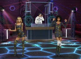 Stella Maxwell . Moschino x The Sims Pixel capsule collection