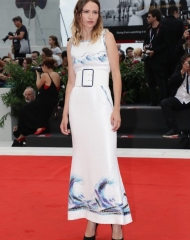 Christa Theret wore Chanel at 75th Venice International Film Festival (photo by Vittorio Zunino Celotto)