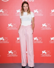 Christa Theret wore Chanel at 75th Venice International Film Festival (photo by Daniele Venturelli)