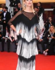 Leonie Hanne wore Chiara Boni at 75th Venice International Film Festival - photo by Montingelli - SGP