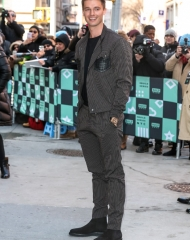 Patrick Schwarzenegger in Bottega Veneta Fall Winter 2018 (photo by AGNY)