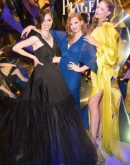Coco Rocha, Jessica Chastain and Doutzen Kroes