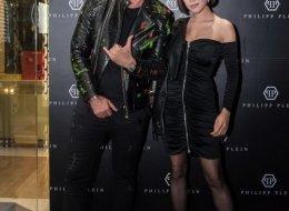 (L-R) Philipp Plein, Fiona Xie
