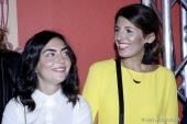 Carmela Trabacco and Cristina Rizza at Simonetta Ravizza Spring Summer 2018 Women's Collection (Photo by Giuseppe Spena)