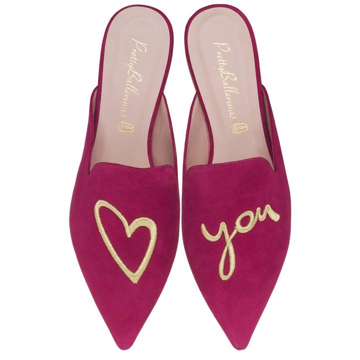 Pretty Ballerinas Ella fuchsia love you - pair