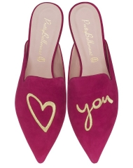 Pretty Ballerinas Ella fuchsia love you - pair