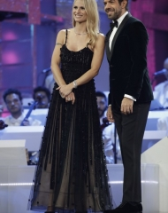 Pierfrancesco Favino in Giorgio Armani e Michelle Hunziker in Giorgio Armani Privè (ph. by Angelo Trani)