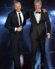 Claudio Baglioni e Biagio Antonacci in Ermanno Scervino . Sanremo 2018