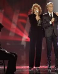 Fiorella Mannoia, Pierfrancesco Favino in Ermenegildo Zegna Couture, Claudio Baglioni, Sanremo (photo Angelo Trani)