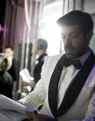 Pierfrancesco Favino in Ermenegildo Zegna Couture Sanremo (photo Angelo Trani)