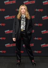 Jodie Comer  wore Biker Maddox Thomas Neuman