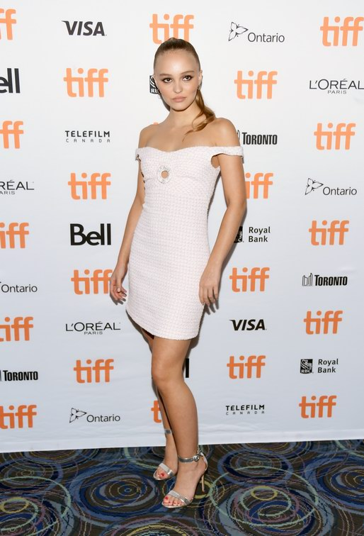Toronto International Film Festival: Lily-Rose Depp, Chanel Ambassador and actress in the movie, wore a pink and white tweed dress from the Cruise 2018/19 collection. (Amanda Edwards)