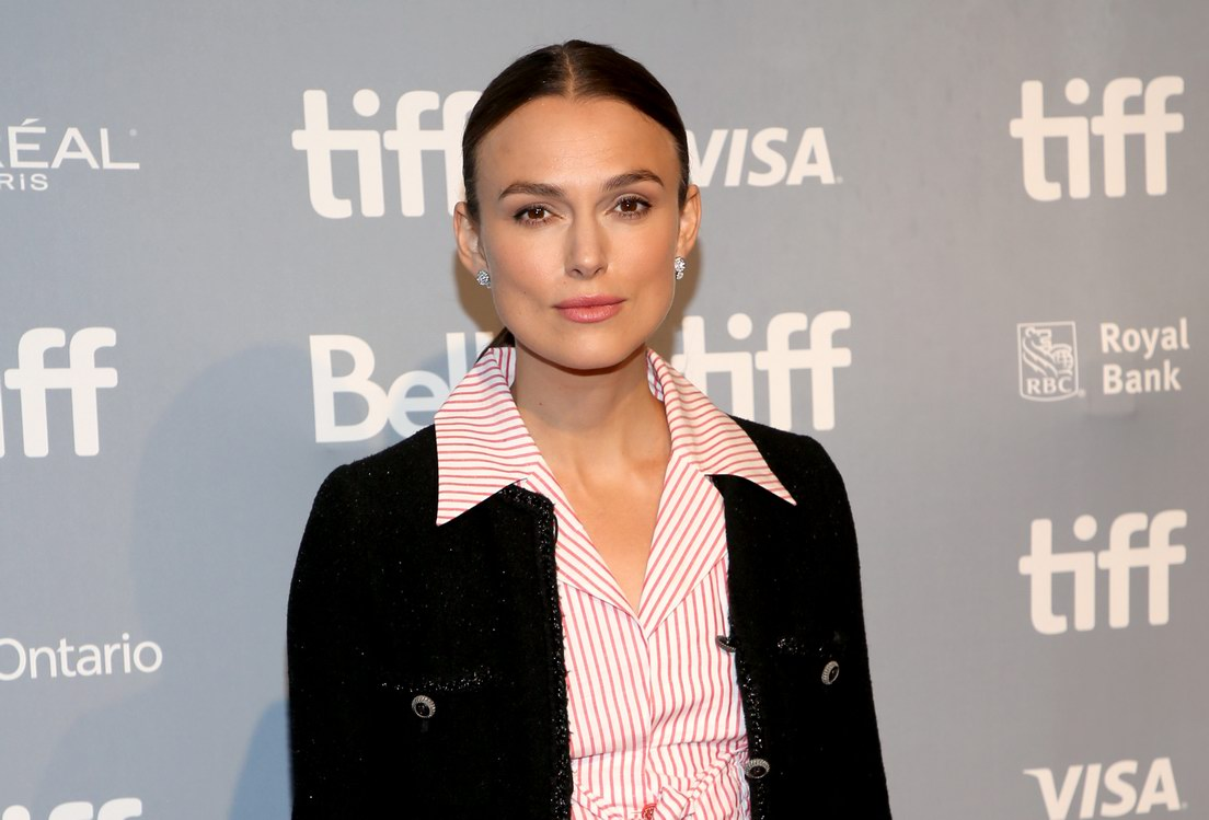 Keira Knightley wore Chanel at Toronto International Film Festival (photo by Phillip Faraone)