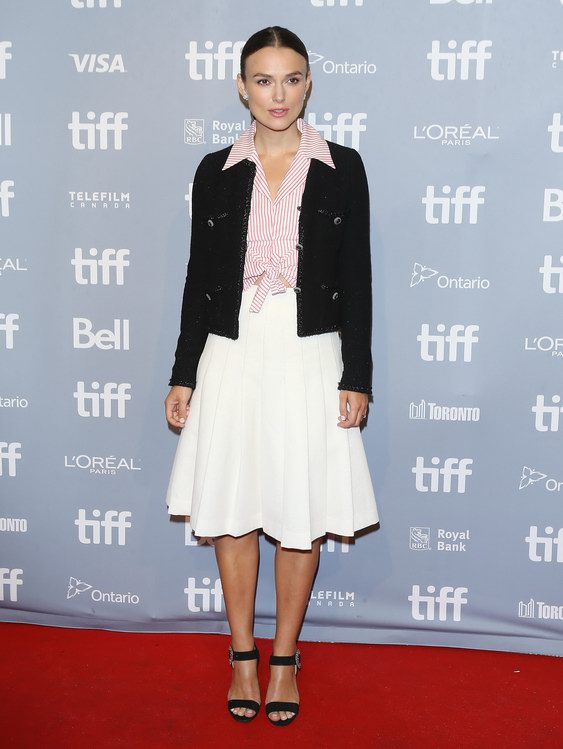Keira Knightley wore Chanel at Toronto International Film Festival (photo by Michael Tran)