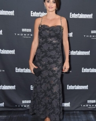Toronto International Film Festival: Penelope Cruz Chanel Ambassador & main actress in the movie alongside Javier Bardem, wore a black layered lace dress, look 44, from the Spring-Summer 2018 Haute Couture collection. Chanel shoes. (photo by Michael Loccisano)