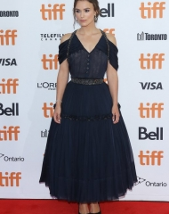 Keira Knightley wore Chanel at Toronto International Film Festival (photo by Michael Tran)