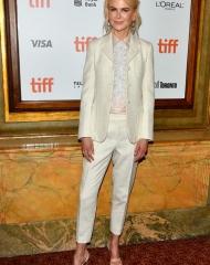 Nicole Kidman wearing Bottega Venetat . phto by Dominic Chan / IPA;