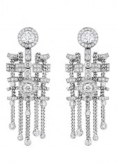 Chanel Tweed Brode Earrings