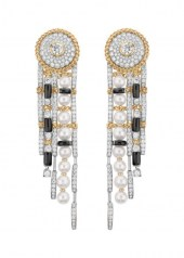 Chanel Tweed Contraste Earrings