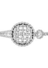 Chanel Tweed Cordage Bracelet White Gold