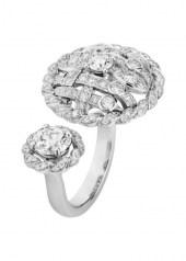 Chanel Tweed Cordage Ring White Gold