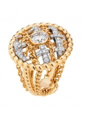Chanel Tweed Cordage Ring Yellow Gold