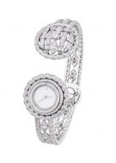 Chanel Tweed Cordage Watch White Gold