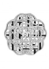 Chanel Tweed Graphique Brooch