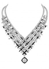Chanel Tweed Graphique Necklace