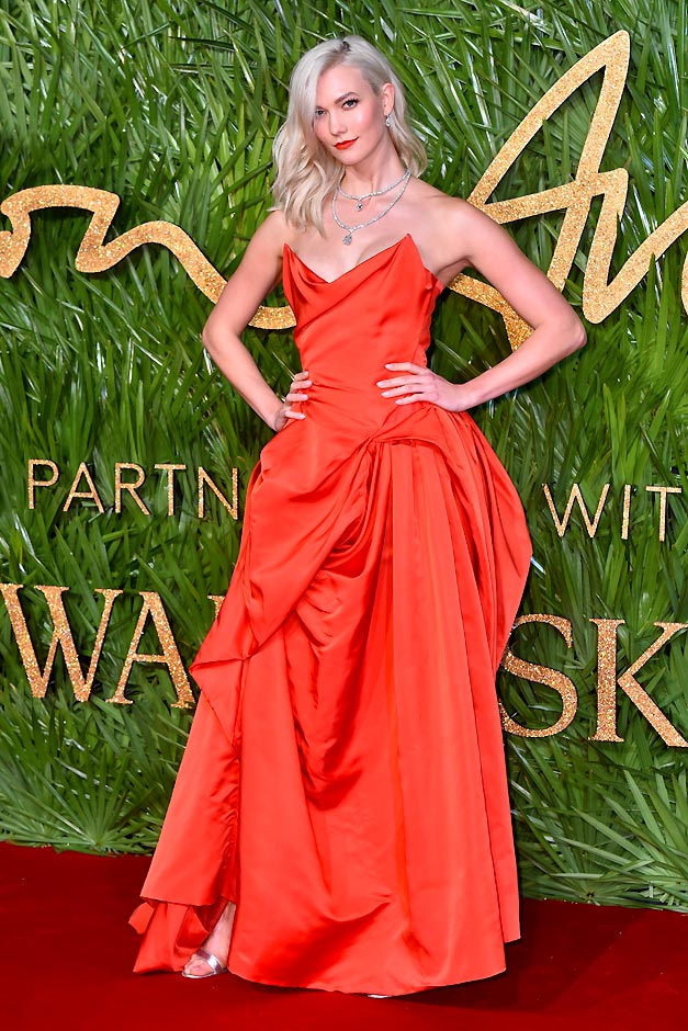 Karlie Kloss in Vivienne Westwood Couture London during the 2017 Fashion Awards
