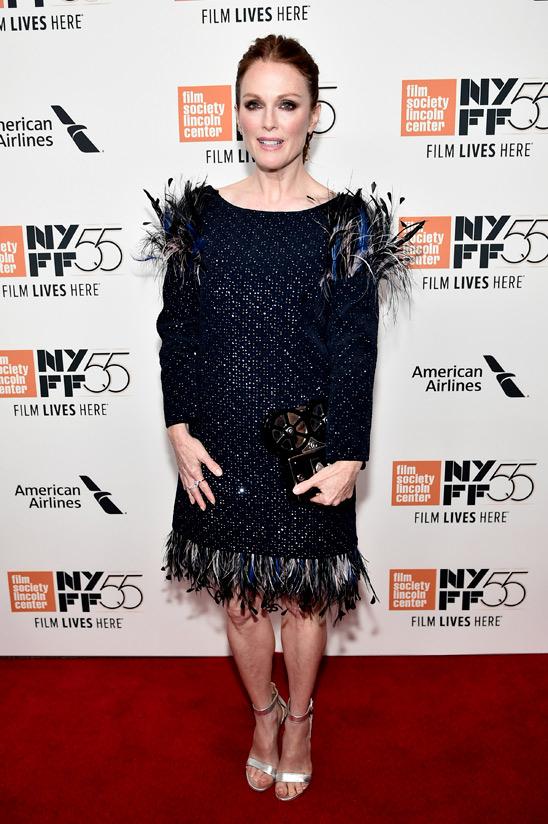 Julianne Moore wore Chanel at the 55th New York Film Festival 'Wonderstruck' Premiere (Photo by Steven Ferdman)