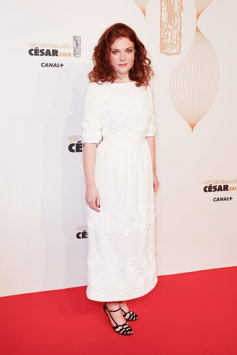 Iris Bry wearing Chanel at the 43rd César Award Ceremony in Paris (photo by Stephane Cardinale - Corbis)
