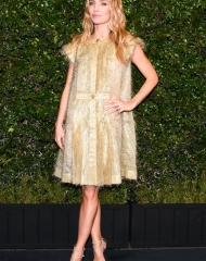 Annabelle Wallis wearing  Chanel .Chanel & Charles Finch Tenth Annual Pre-Oscar Awards Dinner (photo Owen Kolasinski/BFA.com)