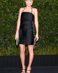 Margot Robbie wearing Chanel . Chanel & Charles Finch Tenth Annual Pre-Oscar Awards Dinner (photo Owen Kolasinski/BFA.com)