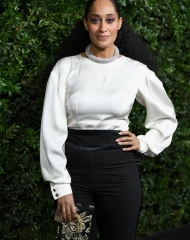 Tracee Ellis Ross wearing Chanel . Chanel & Charles Finch Tenth Annual Pre-Oscar Awards Dinner (photo Owen Kolasinski/BFA.com