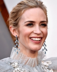 Emily Blunt wearing Chopard . 90th Annual (photo by Frazer Harrison)