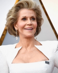 Jane Fonda wearng Chopard  wearing Chopard . 90th Annual (photo by Frazer Harrison)