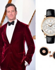Armie Hammer wearing Montblanc . 90th Academy Awards (photo by Kevin Mazu)
