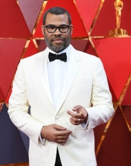 Jordan Peele wearing Montblanc . 90th Academy Awards  (photo by AFP Contributor)
